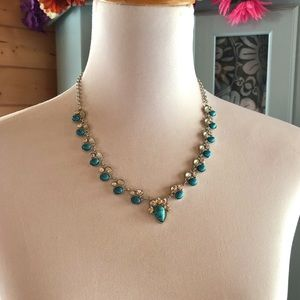 Real TURQUOISE Costume Necklace. Adjustable. NWT's